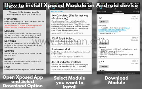 install xposed module on android
